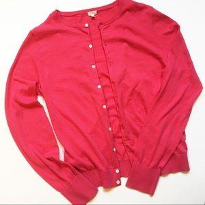 J. Crew Factory Pink Cardigan - Size L